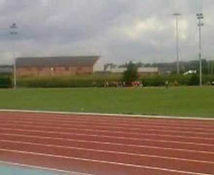 the sports day at standish community high school in the final of the girls relay teams 2007.