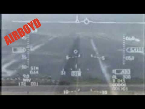F-16 Viper Aerial Demonstration HUD View