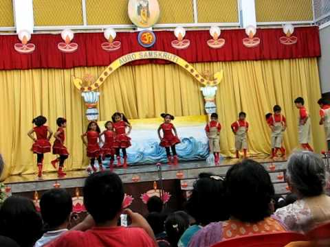 Bam Bam Bole by UKG sudents Sri Aurobindo Memorial school Bangalore...