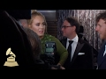 Adele Wins Album of the Year Award | Backstage | 59th GRAMMYs