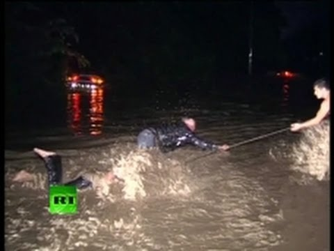 Dramatic video: Fatal flooding kills dozens in southern Russia