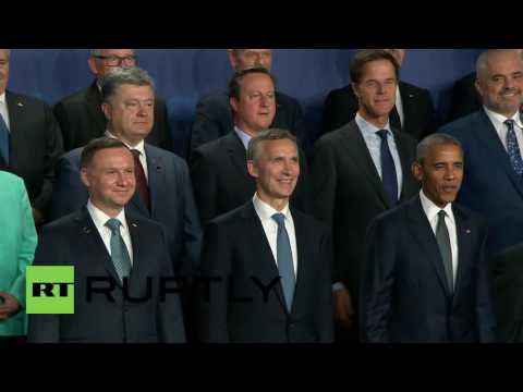 Poland: Leaders pose for group photo, as Warsaw NATO Summit kicks off