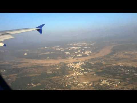 Indigo Airlines plane landing in Ahmedabad Airport