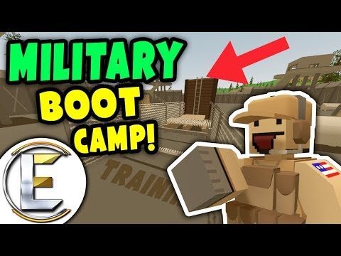 Unturned MILITARY BOOT CAMP RP | HARDEST Obstacle course training up recruits (ARMY Roleplay) thumbnail