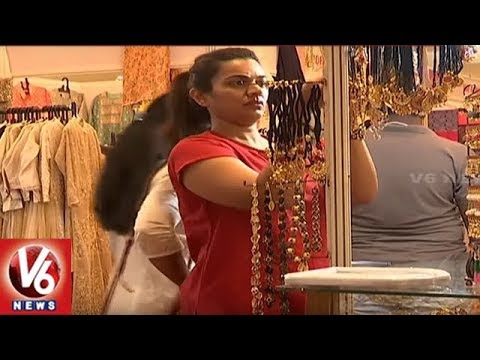 Actress Chitra Shukla Launches Melodrama Designer Expo In Banjara Hills | Hyderabad | V6 News