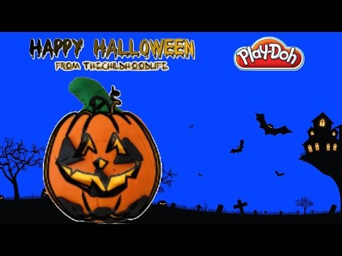 Halloween Play-Doh Jack-o-lantern Halloween Decorations Toys with Spooky Halloween Song