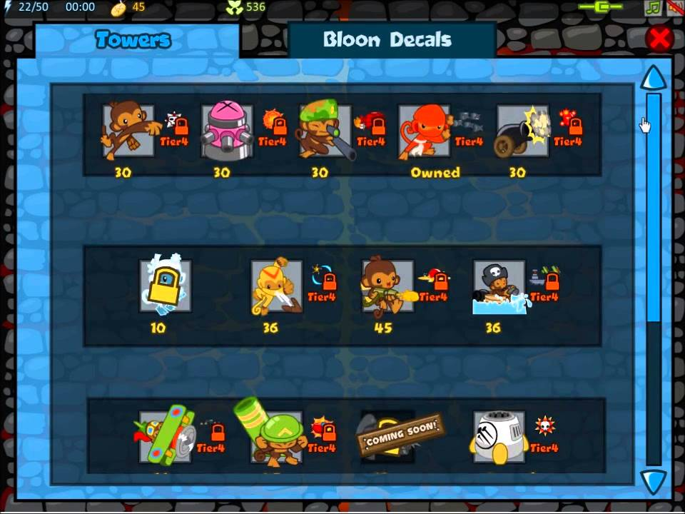 bloon tower defence