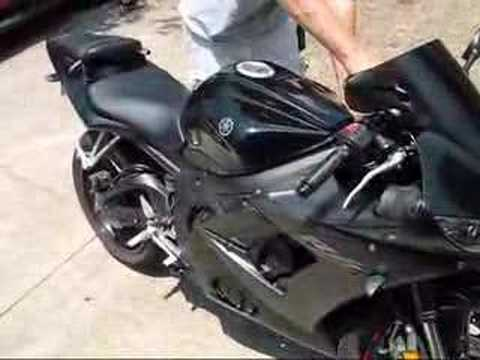 2005 yamaha r6 w no exhaust and with scorpion exhuast for Best exhaust system for yamaha r6