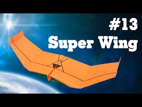 Easy origami - How to make a easy paper airplane glider that FLY FAR #13| Super Wing