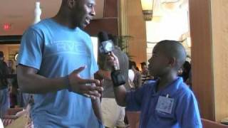 2010 Pro Bowl: 3rd Grade Reporter Anthony Bowie Interview with Quintin Mikell