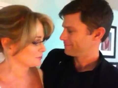 Deidre Hall on set with Greg Vaughan : Days of our Lives