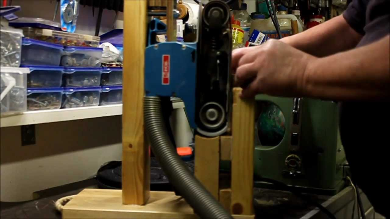 Home Made Tools Stand For A Belt Sander Youtube