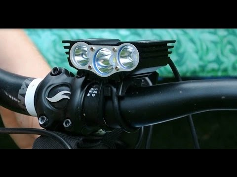 SolarStorm 6000LM XML T6 3x LED Bike Light - Unboxing and Install