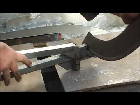 Самодельный кромкогиб, работа и устройство. (metal bender, press brake)