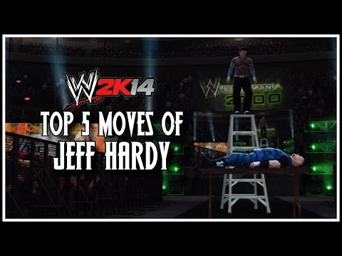 Wwe 2k14 - Top 5 Moves Of Jeff Hardy! (wwe 2k14 Countdown) video