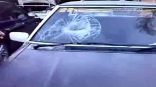 Skinhead Thinks Its Good To Headbutt Car Windows