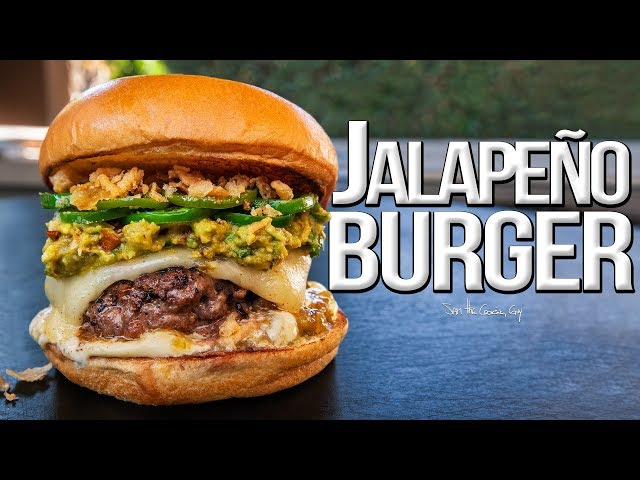 The Best JalapeГo Burger for National Cheeseburger Day  SAM THE COOKING GUY 4K