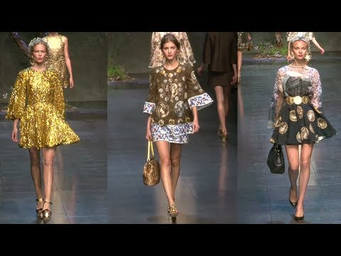 Dolce and Gabbana Spring 2014 Runway | Fashion Week Spring 2014