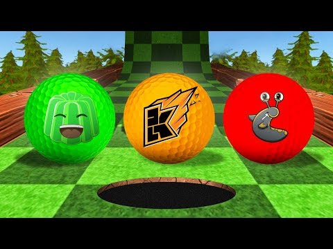 KWEBBELKOP vs. JELLY vs. SLOGOMAN! (Tower Unite Golf Funny Moments)
