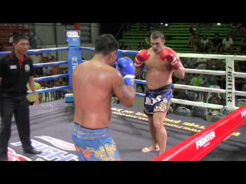 Ross (Tiger Muay Thai) vs Chengranan Vor Themtanon @ Rawai Boxing Stadium 23/1/16