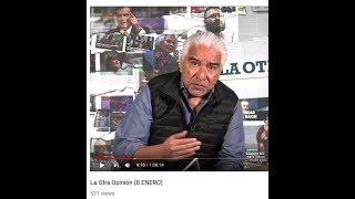 RETO AL CHAYOTERO RICARDO ALEMÁN A DEBATIR: VICENTE SERRANO. ACUSA A AMLO DE CENSURA AL DEJAR MEDIO