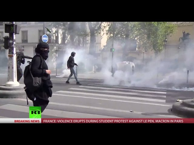 'Neither Macron, nor Le Pen': Protesters march against French presidential candidates in Paris