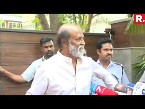 Rajinikanth Addresses Media After Spiritual Tour, Condemn Statue Politics