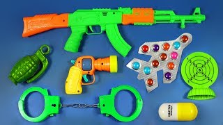Toy Guns Toys!! with Many Colored  Toys from the Box | Military equipments Video For Kids