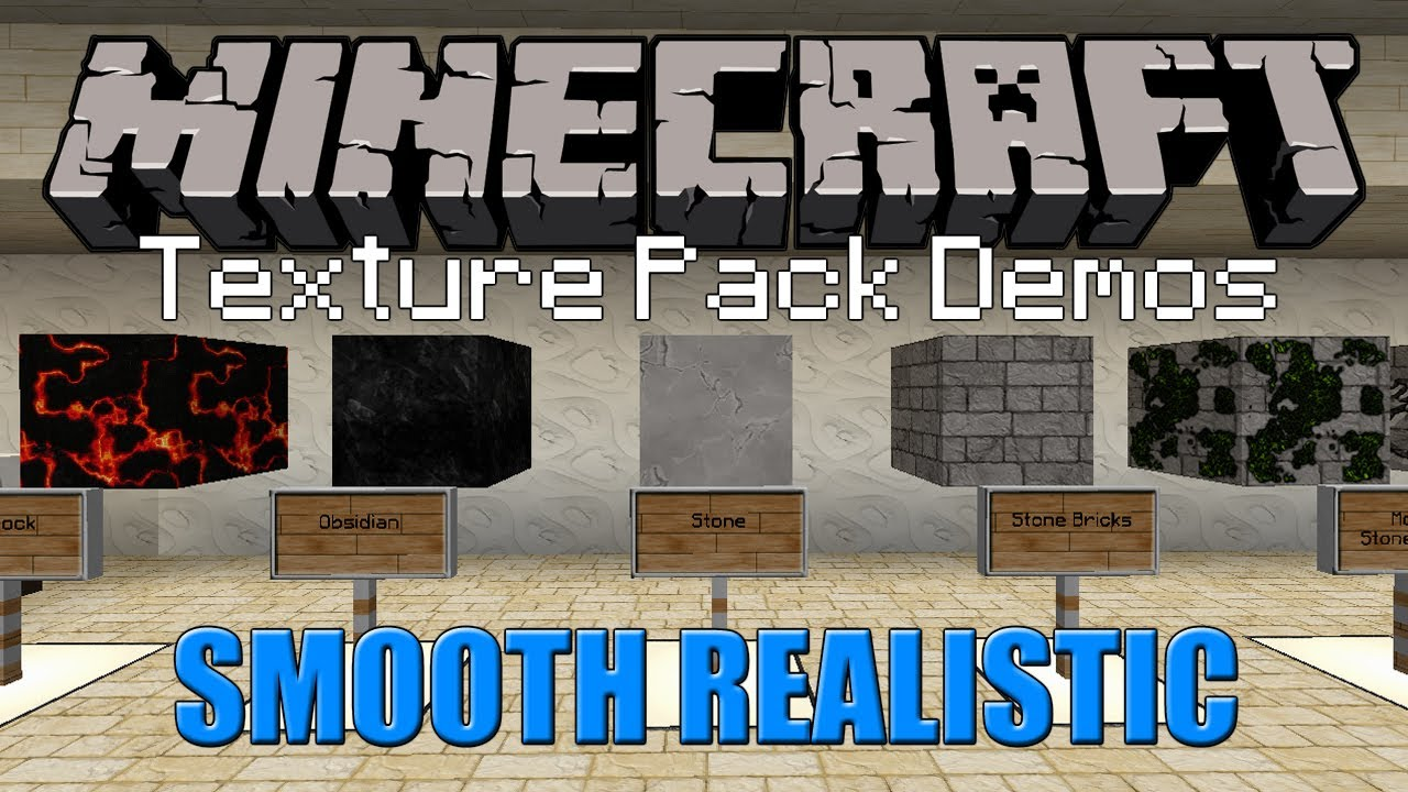 Minecraft Texture Pack - Smooth Realistic (1.5.1) - YouTube