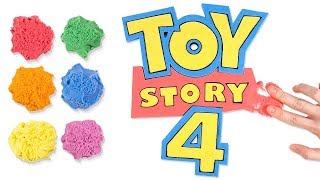 Coloring Toy Story 4 Logo with Kinetic Sand for Kids, Children