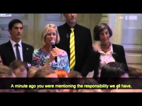 The European Migrant Crisis | A Lady asks Angela Merkel a question