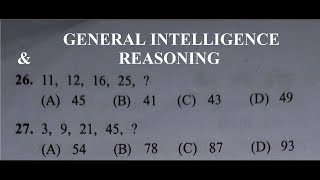 GENERAL INTELLIGENCE & REASONING ((3)PREVIOUS YEAR SOLVED PAPER-SSC JE)