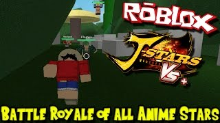 BATTLE ROYALE OF ALL ANIME STARS! | Roblox J-Stars Blox Verses