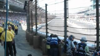 Indy 500 Final laps Sato Crash
