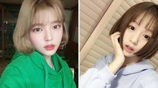 Tóc bob Hàn Quốc 2017: Kiểu tóc ngang vai với mái thưa nữ tính.