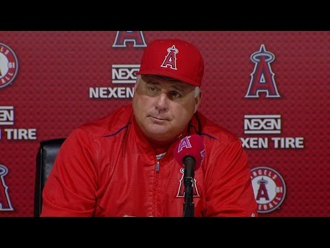 KC@LAA: Scioscia on Richards' pitching, Pujols HR