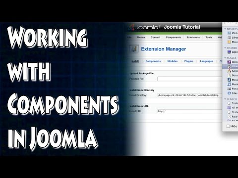 Joomla Tutorial: Working with Components