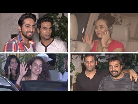 Kangana Ranaut, Preity Zinta, Ayushmann Khurrana | Bombay Velvet Screening