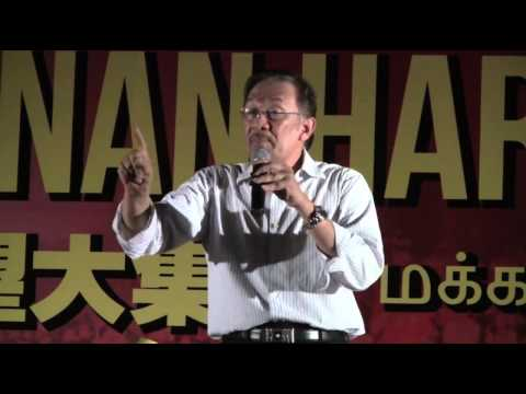 Anwar Ibrahim at Han Chiang High School