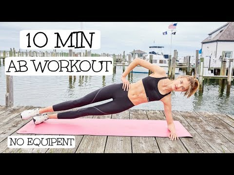 10 Minute Model Ab Routine | Model Workouts | Sanne Vloet