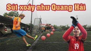 Thử Thách Bóng Đá Sút Xoáy ghi bàn như Quang Hải U23 Việt Nam từ chấm phạt góc