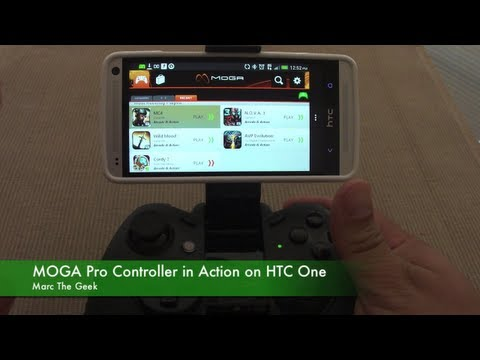 Moga Pro Controller in Action on HTC One