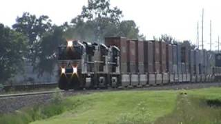 6-5-09 NS 223 with NS SD70M in the lead. Dang this train was haulin a** down the track