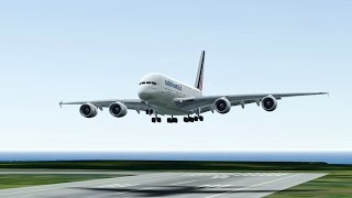 Infinite Flight Air France Airbus A380 Touch and Go at KNUC