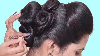 How to make party Hairstyle in 5 Minutes | hair style girl | Quick hairstyles | 2019 hairstyles