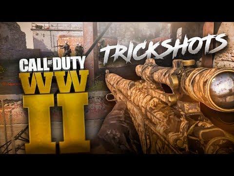 TRICKSHOTS EN CALL OF DUTY WW2 (TRICKSHOT RACE)