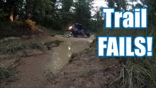 KLR650 Mud Crossing FAIL (Trail Fails Ep. 2)