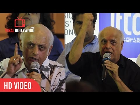 ANGRY ! Mahesh Bhatt And Mukesh Bhatt Stands For Udta Punjab Movie Banned | Press Conference