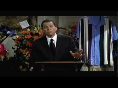 Charlie Sheen's Funeral - Charlie Harper's Death Scene on Two and a Half Men