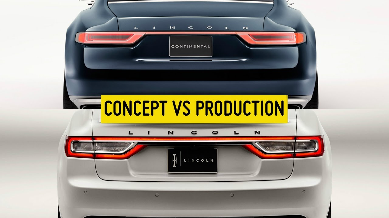 Lincoln continental concept vs production 2017 youtube